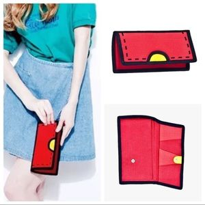 NWOT, Women's Cartoon / Comic Style Wallet in Red.